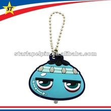Customized 3d pvc keychains rubber keyring