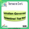 yellow wholesale custom print plastic bracelet/bangle/wristband with print logo
