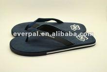 Blue flip flop shoes rubber sole mens sandals 2012