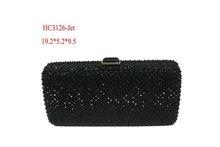 European Contrast color luxury evening crystal clutch bag