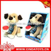 Pet plush toys animal dancing coin bank 10*8 inch Monkey,Dog,Cat,Frog...