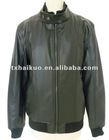 soft thin leather jacket/leather jacket for men/warp knit fabric