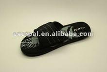 Black chinese shoe 2012 men rubber slipper