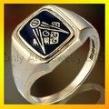 2012 nuevo diseño fahsion esmalte anillo masonico, joyería freemasonic