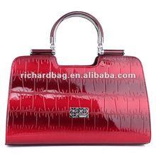 trend fashion polish leather lady tote bags