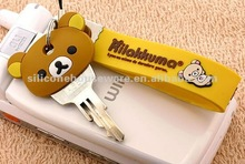 2012 Cute Rilakkuma Silicone Rubber Key Cover Set
