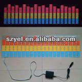 High Quality Sound Flashing Vinyl Electroluminescent Equalizer Car Sticker, EL Car Window Decal