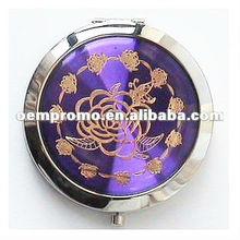 Foldable wholesale ladies fashion small metal compact mirror