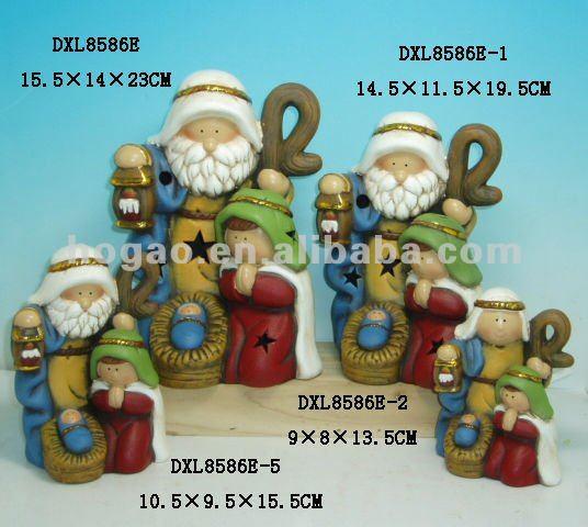 ceramic decoration jesus manger