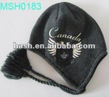 100 Acrylic/Wool winter earflap hat (MSH0183)