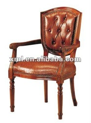 Western antique hand carved wood chairs D-923