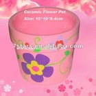 Ceramic pink glazed flower pot 2014 , outdoor garden pot