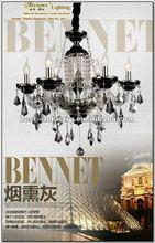 Black crystal chandelier&pendant lamp&celling light-Meerosee,Supplier of 6-star hotel