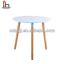 new designed wood leg and plastic dining table