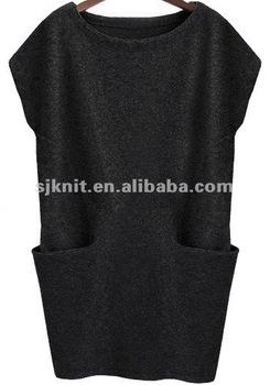 girls front pockets sweater dress