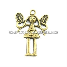 alloy angle pendant with wing