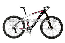 """Best quality of 26"""" mountain bike 2012 with XT Gears of any color carbon material ( HKXC-MTB-03) 8.0kg 27speeds"""