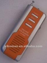 fm rectangula portable mini light radios bulit-in speaker with CE & ROHS