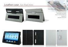 Premium Leather case cover bags folio for iPad mini3 with wallet and stand function