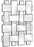 HWM10574 mirror strip crossed modern wall decorative mirror for home beauty