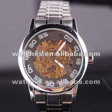 2012 top quality skeleton modern mechanical watch for men
