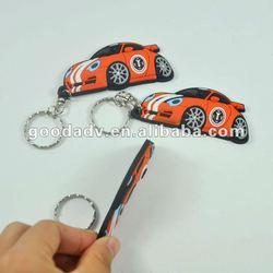 Car shape keychain/3D soft pvc keyrings