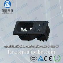LZ-14-5F IEC male socket with switch
