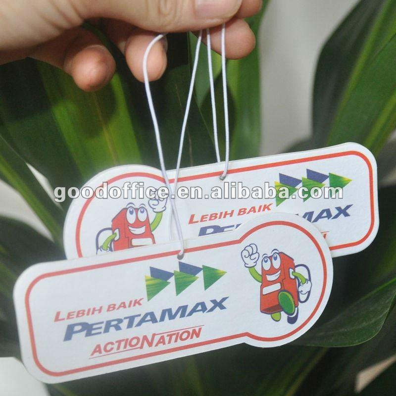 Hanging car air freshener for promotion item