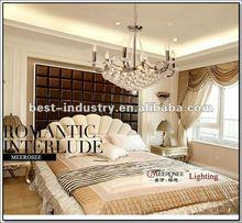 2012 latest modern LED crystal chandelier,Living room crystal chandelier with Romantic sense