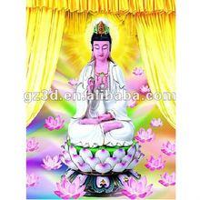 Wonderful lenticular 3d buddha images (4005)