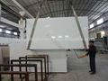 Projetado de quartzo artificial pedra pedra de quartzo branco verniz