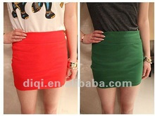 100% cotton ladies straight short skirt in 2012