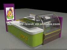 new designed food kiosk cart selling hot dot crepe hamburger