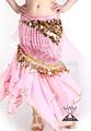 Venta al por mayor nuevo arábica caliente de color rosa a largo de danza del vientre faldas de gasa( qc1003)