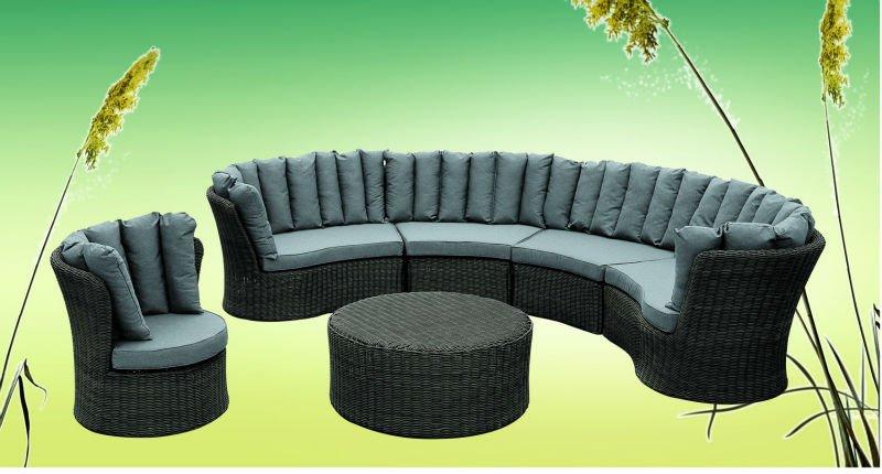 mobiliario jardim rattan : mobiliario jardim rattan:Mobiliário de jardim – sofá de vime redondo oval-Conjuntos de Jardim
