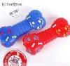 SM. Bone w/paw & bone sounding pet toy/dog toy
