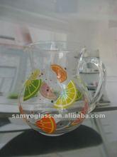 decorated pitcher/jar/pot