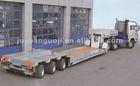 3 axles low bed swivel wheel trailer