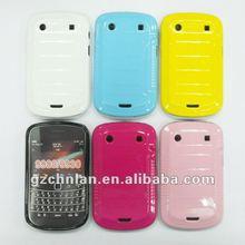 Multicolored plain rubber case for blackberry bold 9900