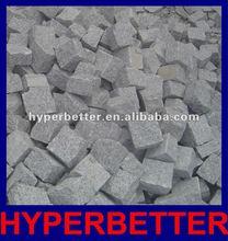 Grey granite G603 cube stone with natural split