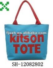 blue canvas Enviro shopping tote bags