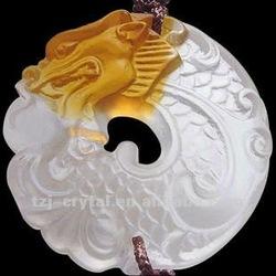 Mascot pendant car used Adorn article/ crystal Liuli dragon art crafts