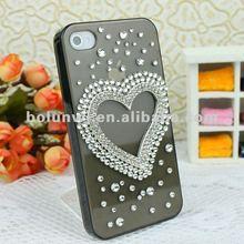 Luxury Rhinstone Heart DIY Cell Phone Case