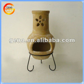 2014 Handmade High Quality Outdoor Fireplace Chimineas with New Flower Design