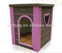 Cute style pvc leather pet dog soft house