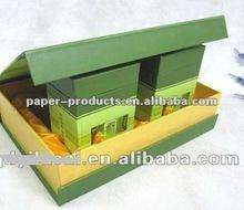 2014 popular china green tea paper box with satin liner