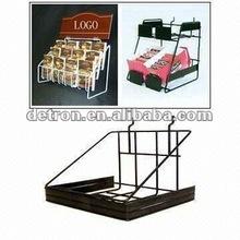 2012 Metal Chocolate Counter Top/Floor Display Rack with Hook M155