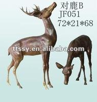 Cast iron deer statue