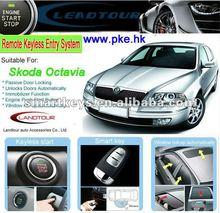 One way remote engine start RFID keyless entry car alarm system for Skoda Octavia can bus alarm system