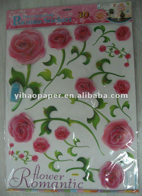 Baños Con Azulejos Rosas:Cuarto de baño de flores azulejo de la pared pegatinas y calcomanías